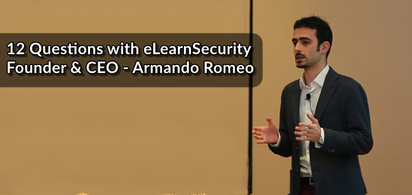 armando romeo elearnsecurity founder