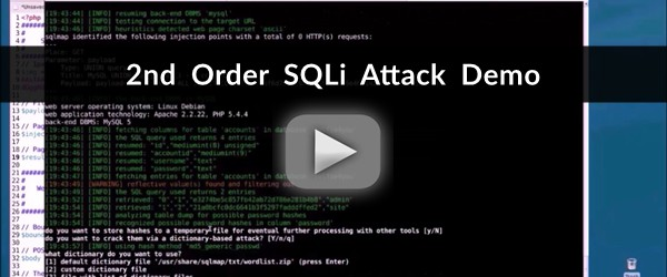 2nd order sqli attack demo
