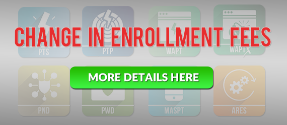 elearsecurity enrollment fees change