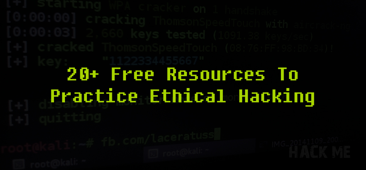 There s no better way to gaining confidence in your ethical hacking skills  than by actually practicing them in real-life. So 7ba3bdeb67fa